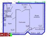 Продажа двухкомнатная квартира 59.27м2 в ЖК Кольцовский дворик дом 4. .