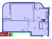 Продажа двухкомнатная квартира 69.11м2 в ЖК Рощинский дом 9 - Фото 1