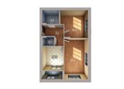 Двухкомнатная квартира в комплексе «Венский лес»