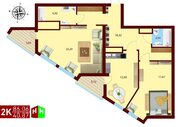 Продажа двухкомнатная квартира 86.06м2 в ЖК монтекристо секция а