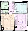 2 490 000 Руб., Однокомнатная квартира с индивидуальным отоплением в центре города!, Купить квартиру в Белгороде по недорогой цене, ID объекта - 325135118 - Фото 2
