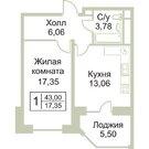 Продается 1 к. квартира в г. Раменское, ул. Крымская, д.11 - Фото 2