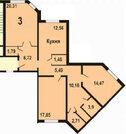Огромная 3-комнатная квартира в новом доме, мкр. Ивановские Дворики - Фото 2