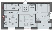 Двухкомнатная Функциональная квартира в новостройке - Фото 3