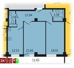 Продажа двухкомнатная квартира 83.28м2 в ЖК Дипломат