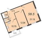 Продам 2к. квартиру. Вишневая ул. к.5-3
