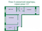 3-к.квартира, Советской Армии, Купить квартиру в Барнауле по недорогой цене, ID объекта - 317509713 - Фото 13