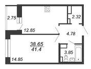Продажа 1-комнатной квартиры, 41.4 м2 - Фото 2