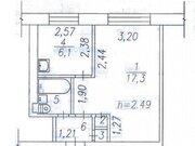 Продажа однокомнатной квартиры на улице Челюскина, 3 в Новокузнецке, Купить квартиру в Новокузнецке по недорогой цене, ID объекта - 319828639 - Фото 1