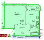 Продажа однокомнатная квартира 48.24м2 в ЖК Кольцовский дворик дом 4. .