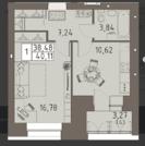 Продам ЖК Вавиловский дворик 1этап 1 комнатная квартира