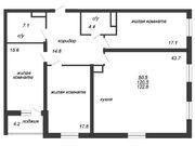 Продажа 3-комнатной квартиры, 122.6 м2