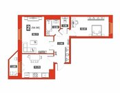 2 комнатная квартира в новом доме, ул. Тимофея Чаркова, Купить квартиру в Тюмени по недорогой цене, ID объекта - 323243764 - Фото 8