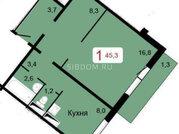 Продам 1-комн. квартиру 45.3 кв.м., Купить квартиру в Красноярске по недорогой цене, ID объекта - 317958794 - Фото 1