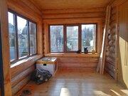 Двухэтажный дом из оцилиндрованного бревна 6х6 метров с пристроенной в - Фото 2