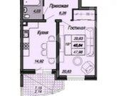 2 015 160 Руб., Продажа однокомнатной квартиры на улице им Репина, 1 в Краснодаре, Купить квартиру в Краснодаре по недорогой цене, ID объекта - 320268472 - Фото 2