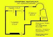"""Просторная 2-х комнатная квартира в центре Ялты в ЖК """" ."""