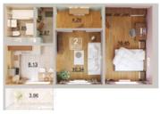 ЖК Светлая долина двухкомнатная квартира Натана Рахлина 11 /2 - Фото 4