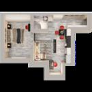 Двухкомнатная квартира студия в мкрне Новая Жизнь - Фото 2