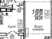 Продажа однокомнатной квартиры в новостройке на улице Артамонова, 34 в ., Купить квартиру в Воронеже по недорогой цене, ID объекта - 320573457 - Фото 1