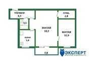 45 000 $, 2 комнатная квартира в зеленом районе города недалеко от метро на ул., Купить квартиру в Минске по недорогой цене, ID объекта - 322413220 - Фото 2