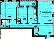 Трехкомнатная квартира в ЖК Сочинский, адрес:Сочинская 15/2, Секция Д - Фото 1