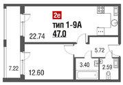Продажа 1-комнатной квартиры, 47 м2 - Фото 2