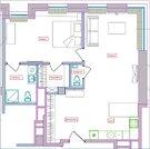Продается 2-комн. квартира 70.1 м2, Купить квартиру в Москве, ID объекта - 326454275 - Фото 3