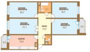Сдается 3 комнатная квартира в Химках, Аренда квартир в Химках, ID объекта - 321189270 - Фото 16