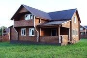Новый бревенчатый дом с отделкой и коммуникациями в 80 км от МКАД