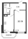 Продажа 1-комнатной квартиры, 32.19 м2 - Фото 2