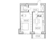 Продам 1-комнатную квартиру, 45м2, ЖК Прованс, фрунзенский р-н, Купить квартиру в новостройке от застройщика в Ярославле, ID объекта - 321697445 - Фото 5