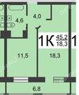 1-к на Казанском шоссе, Купить квартиру в Нижнем Новгороде по недорогой цене, ID объекта - 319525467 - Фото 11