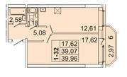 3 761 710 Руб., Продам 1к. квартиру. Кондратьевский пр-кт, д.58 к.1-1, Купить квартиру в Санкт-Петербурге по недорогой цене, ID объекта - 317898209 - Фото 1