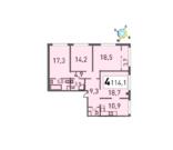 Продается четырёхкомнатная квартира - Фото 1