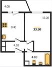 1 206 000 Руб., 1-ком квартира в Добром, Купить квартиру в новостройке от застройщика в Владимире, ID объекта - 314669947 - Фото 2