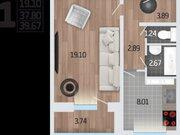 1 729 810 Руб., Продажа однокомнатной квартиры в новостройке на Корейской улице, влд6а ., Купить квартиру в Воронеже по недорогой цене, ID объекта - 320574421 - Фото 1