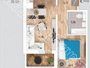 1 368 760 Руб., Продажа однокомнатной квартиры на Рябиновой улице, 1 в Курске, Купить квартиру в Курске по недорогой цене, ID объекта - 320006259 - Фото 1