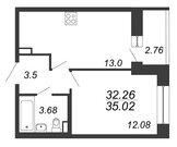 Продажа 1-комнатной квартиры, 35.02 м2 - Фото 2