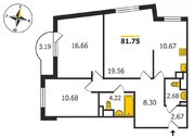 ЖК «Квартал №7», Владимир, Гвардейская ул, д.11, 3-комнатная квартира .