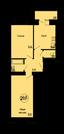 Двух комнатная квартира по цене однокомнатной