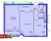 Продажа двухкомнатная квартира 59.30м2 в ЖК Кольцовский дворик дом 4. .