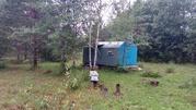 Большой садовый участок с вагончиком