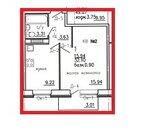Продажа 1-комнатной квартиры, 32.1 м2, п Дороничи, Мира, д. 91, к. .