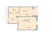 1 комнатная квартира, ул. Вересковая, Лесобаза Тура, Купить квартиру в Тюмени по недорогой цене, ID объекта - 322732414 - Фото 3