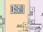 Продажа однокомнатной квартиры в новостройке на улице Хользунова, 99 в ., Купить квартиру в Воронеже по недорогой цене, ID объекта - 320573413 - Фото 2