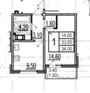 Предлагаем к продаже уютную однокомнатную квартиру в обжитом Красно.