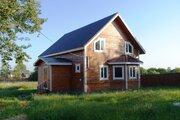 Новый дом из бруса с коммуникациями в деревне с инфраструктурой
