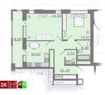 Продажа двухкомнатная квартира 56.48м2 в ЖК Каменный ручей гп-1