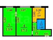 Продажа двухкомнатной квартиры на Пролетарской улице, 4 в Кемерово, Купить квартиру в Кемерово по недорогой цене, ID объекта - 319828716 - Фото 1